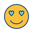 love, Face, smiley, Emoticon SandyBrown icon