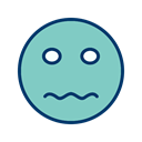 Face, smiley, Emoticon, nervous MediumAquamarine icon