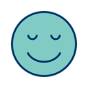 Face, smiley, Emoticon, Calm MediumAquamarine icon