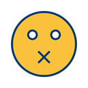 Mute, Face, smiley, Emoticon SandyBrown icon