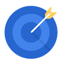 Aim, Business, work, Target, Goal RoyalBlue icon
