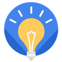 Idea, light, Business, work RoyalBlue icon
