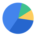 chart, Business, report, Piechart, market share RoyalBlue icon