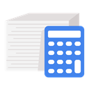 Accounting, financial, document, calculator, Business, work WhiteSmoke icon