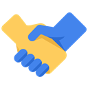 Company, shakehand, Business, join, work, Hands Black icon