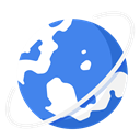 globe, international, world, Business, work RoyalBlue icon