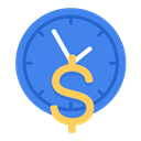 time, Business, work, rate, pay, hour, part time RoyalBlue icon