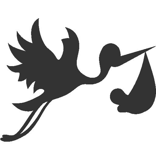 With Bundle Flying Stork Icon