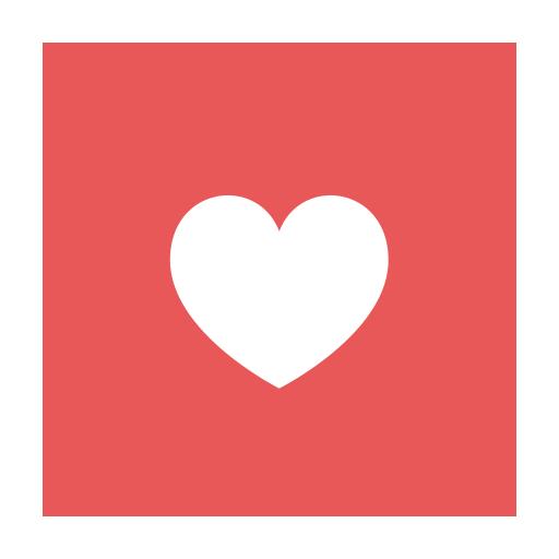 Modern , Red, Favourites, Fav, Add, Like, Circular Icon