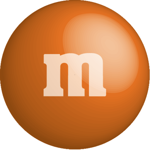 colour color chocolate m m orange icon. Black Bedroom Furniture Sets. Home Design Ideas