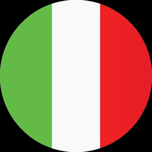 Italian Restaurant Logo With Flag: Italy, Flag Icon