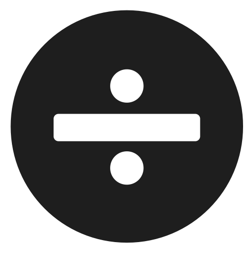 Sign Character Math Share Division Icon