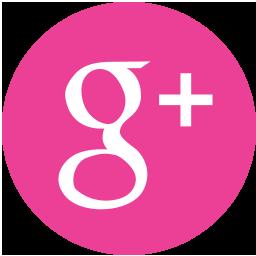 Round Google Media Pink Social Icon