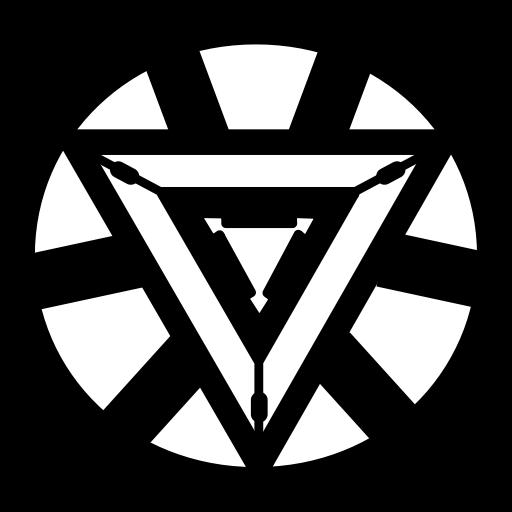marvel  avangers  triangle  iron man icon
