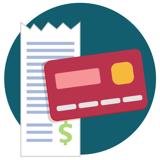 receipt  buy  purchase  credit card icon