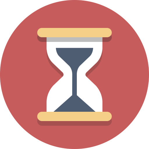 Hourglass, timer, time icon