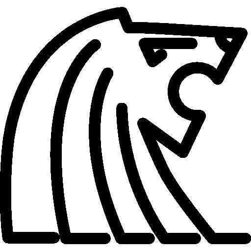 Lion Singapore Singapura Merlion Outline Monuments