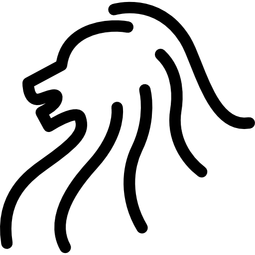Lion Head Animals Side View Head Outline Head Lion Icon The lion head was chosen as a nice logo, as it best captures the characteristics of singapore's reputation as a lion city. lion head animals side view head