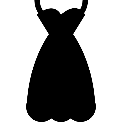 Female sexy dress vector svg icon
