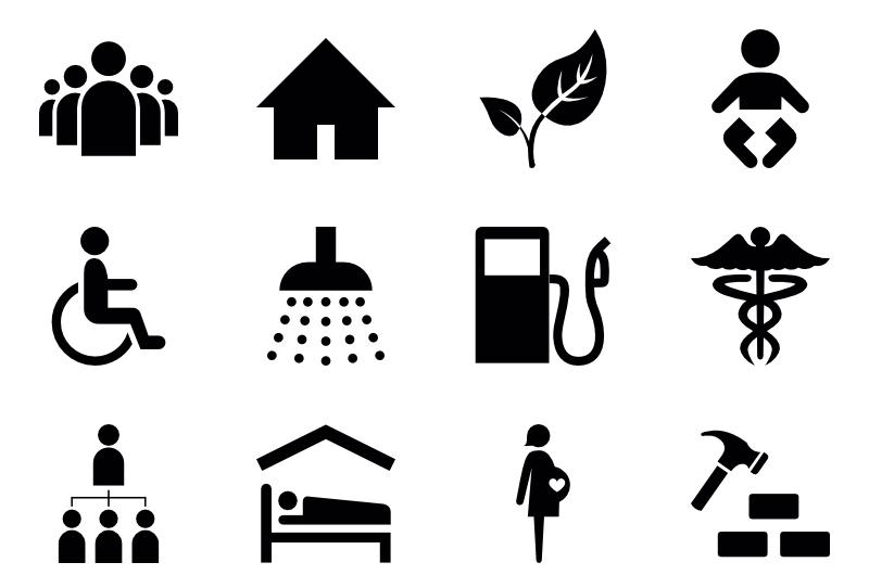 humanitarian icons 2