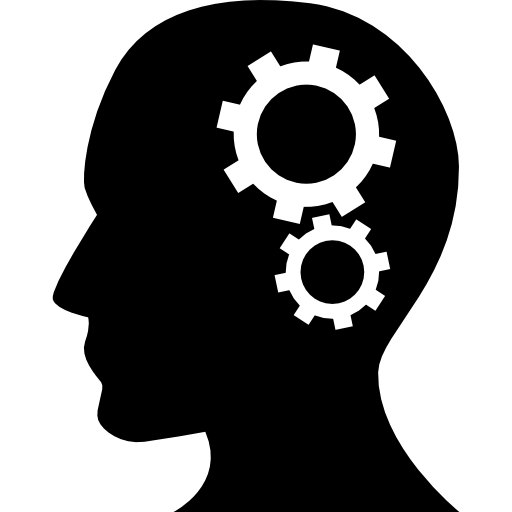 Human Head, Business, head, Thinking, Side View, Cogwheels ...