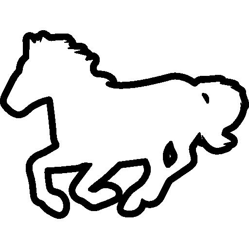 Running Horse Horse Outline Horse Running Animals Horses Icon