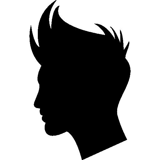 Silhouette hair boy hair salon head people person shape man male icon