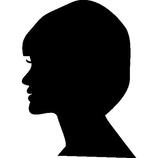 Fashion Woman Profile Logo: Head, Silhouette, People, Woman , Hair Salon, Person, Side
