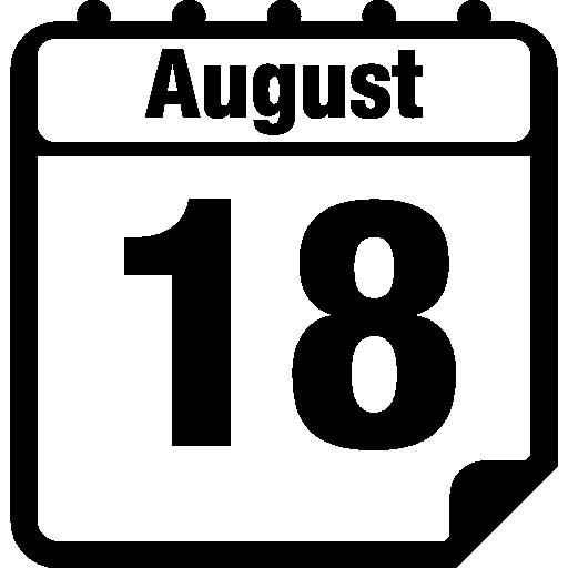 August 18, Daily Calendar, Daily Calendars, Calendar Icons ...