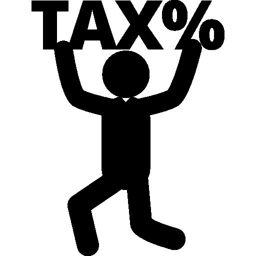 symbol business taxes men humanpictos man sign tax