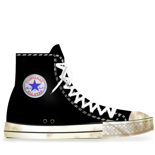 Black, converse, dirty icon