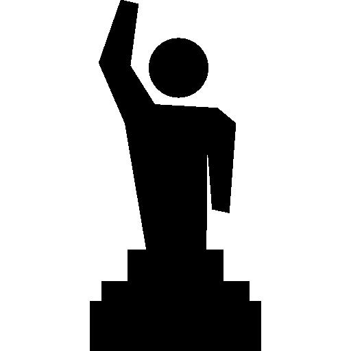 Raised Awards Award Standing Man Podium Winner