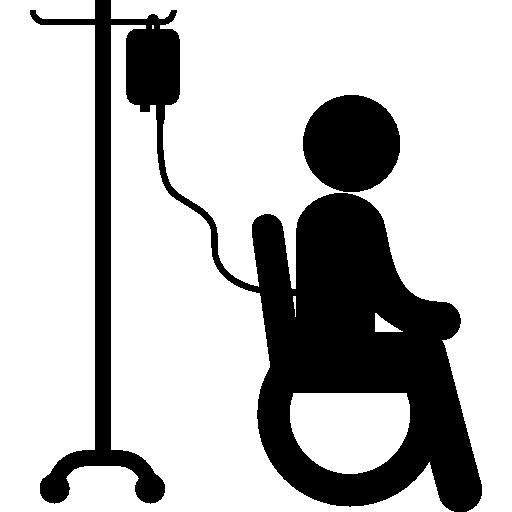 Wheels Chair Hospital Ill Sitting Sanatory Silhouette