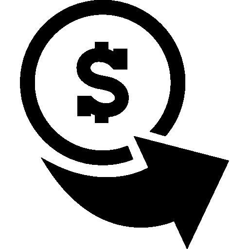 Money Dollar Coin Commerce Money Icons Arrow Right