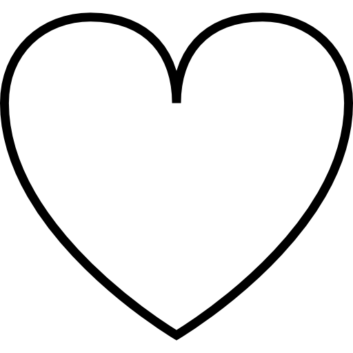 Thin, love, Heart, symbol, Emotions, Hearts, Office Icons ...