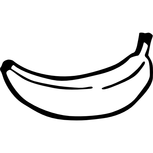 Fruit Banana Bananas Fruits Hand Drawn Food Foods