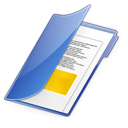 Dossierbleu Document Paper File Icon