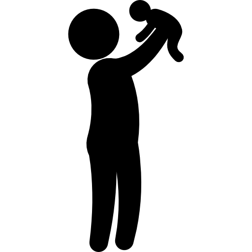 person people child baby silhouettes rising family
