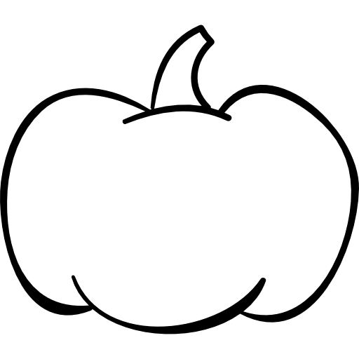 pumpkin, food, halloween, Outlined, outline, vegetable icon