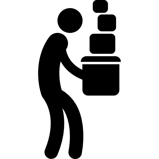 Box People Carrying Silhouette Carry Icon
