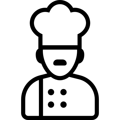 people  head cook  chef  cook icon
