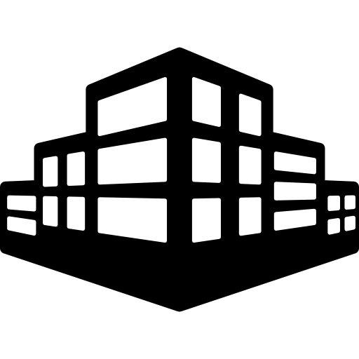 Stepped, buildings, office, Building icon