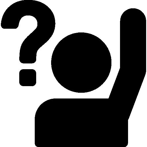 Raise, Ask, school, education, Class, question, student icon