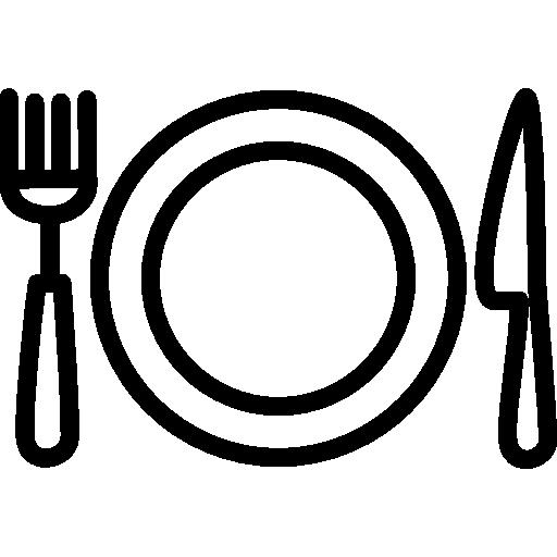 Dish Utensils Eat Kitchen Lunch Dishes Icon
