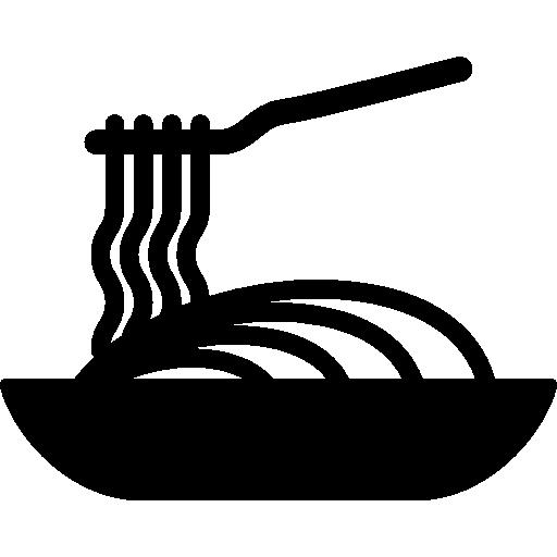 Italian Restaurant Logo With Flag: Spaghetti, Plate, Italian Food, Food, Pasta, Bowl, Dish Icon