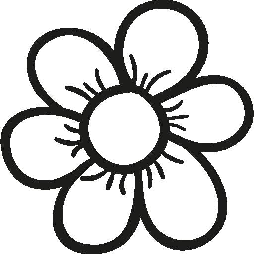 Garden daisy nature flower bud flower flower petals icon mightylinksfo