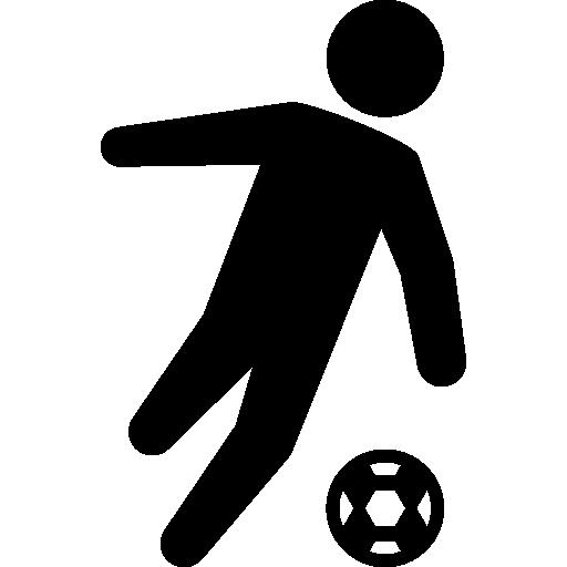 kick players football sports movement match kicking icon