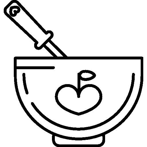 Apple, Apples, Mush, food, Porridge, Bowl, spoon icon