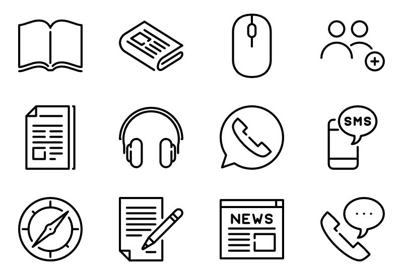communication and media icon