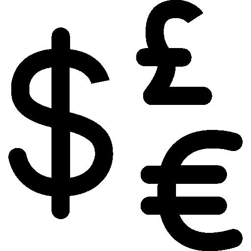 British Pound Exchange Money Business Dollar Symbol Euro Icon